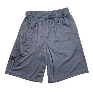 Boys Grey Logo Under Armour Basketball Shorts